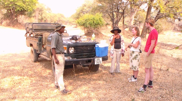 Game drive in the Mosi-Oa-Tunya National Park